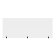 LUXDIVTT-6024C - Luxor - 60 x 24 Clear Acrylic Divider w/ 3 Table Top Clamps