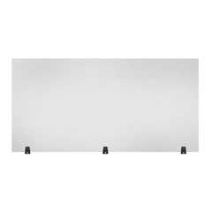 LUXDIVTT-6030F - Luxor - Acrylic Sneeze Guard Desk Divider - 60 x 30 Tabletop, Frosted