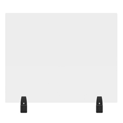LUXDIVWT-3024C - Luxor - 30 x 24 Clear Acrylic Divider w/ 2 Divider Wall Top Clamps