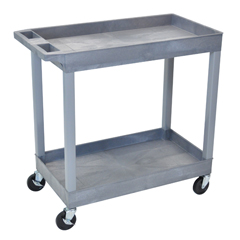LUXEC11-G - Luxor2-Shelf High Capacity Tub Cart