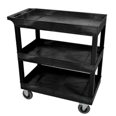 LUXEC111SP5-B - LuxorBlack 3 Tub Cart W/ SP5 Casters