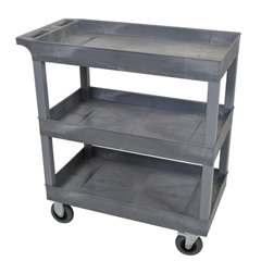 LUXEC111SP5-G - LuxorGray 3 Tub Cart W/ SP5 Casters