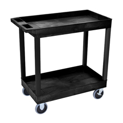 LUXEC11HD-B - Luxor2-Shelf High Capacity Tub Cart with Heavy Duty 5 Casters