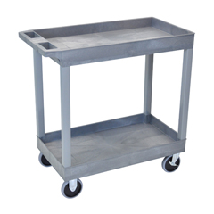 LUXEC11HD-G - Luxor - 2-Shelf High Capacity Tub Cart with Heavy Duty 5 Casters