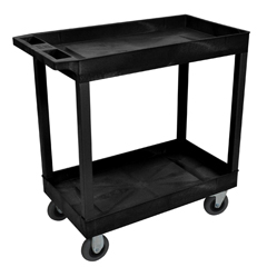 LUXEC11SP5-B - LuxorBlack 2 Tub Cart W/ SP5 Casters