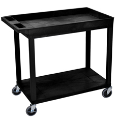LUXEC12-B - Luxor18x32 Cart 1 Tub/1 Flat Shelf