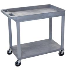 LUXEC12-G - Luxor - 18x32 Cart 1 Tub/1 Flat Shelf