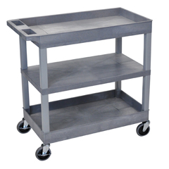 LUXEC121-G - Luxor18 x 32 Cart 2 Tub with 1 Flat Shelf