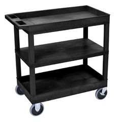 LUXEC121HD-B - Luxor18x32 Cart with 2 Tub Shelves and 1 Flat