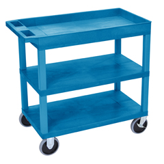 LUXEC122HD-BU - Luxor18x32 Cart 2 Flat with 1 Tub Shelf