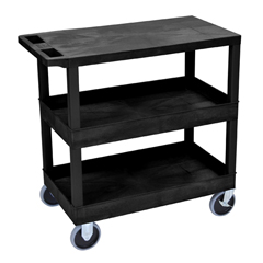 LUXEC211HD-B - Luxor18x32 Cart with 2 Tub/1 Flat Shelves