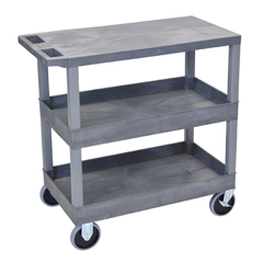 LUXEC211HD-G - Luxor18x32 Cart with 2 Tub/1 Flat Shelves