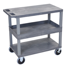 LUXEC212HD-G - Luxor18x32 Cart with 2 Flat/1 Tub Shelves