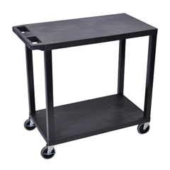 LUXEC22-B - Luxor18x32 Cart with 2 Flat Shelves