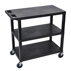 LUXEC222-B - Luxor18x32 Cart 3 Flat Shelves