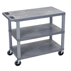LUXEC222-G - Luxor18x32 Cart 3 Flat Shelves