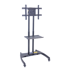 LUXFP2500 - LuxorFP2500 Series Adjustable Flat Panel Cart with Shelf