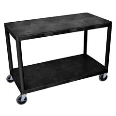 LUXHEW335-B - LuxorIndustrial Wide 3-Shelf Cart