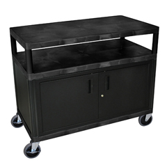 LUXHEW385C-B - LuxorIndustrial Wide Cart with Steel Locking Cabinet