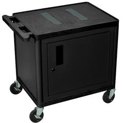 LUXLE26C-B - LuxorEndura Video Equipment Table with Cabinet