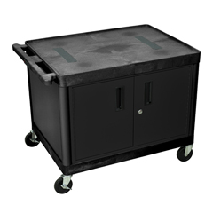LUXLE27C-B - LuxorEndura Video Equipment Table with Cabinet