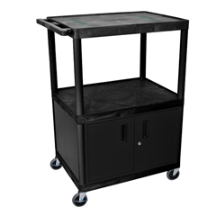 LUXLE34C-B - LuxorEndura Video Equipment Table with Cabinet