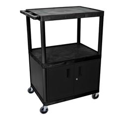 LUXLE48C-B - LuxorEndura Video Equipment Table with Cabinet