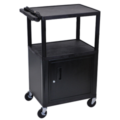 LUXLE42C-B - LuxorEndura Video Equipment Table with Cabinet