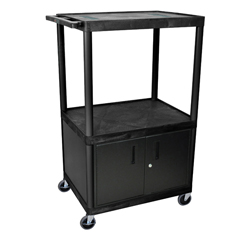 LUXLE54C-B - LuxorEndura Video Equipment Table with Cabinet