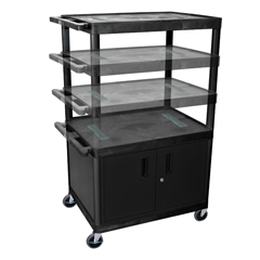 LUXLELDUOC-B - LuxorMulti-Height Endura Video Equipment Table with Cabinet