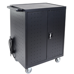 LUXLLTP32-B - Luxor - 32-Laptop/Chromebook Charging Cart with Timer