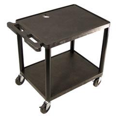 LUXLP26-B - Luxor - 26H AV Cart - Two Shelves