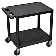 LUXLP26E-B - Luxor - 26 Plastic Shelf Cart & Stand