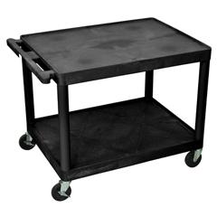 LUXLP27-B - Luxor - 27 Plastic Shelf Cart & Stand