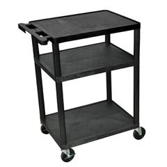 LUXLP34-B - Luxor34-inch Plastic Shelf Cart & Stand