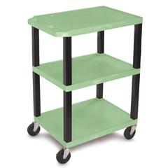 LUXWT34G-B - LuxorSpecialty Utility 3-Shelf Cart