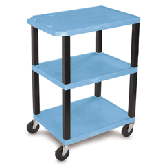 LUXWT34BUS - LuxorSpecialty Utility 3-Shelf Cart