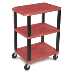LUXWT34RS - LuxorSpecialty Utility 3-Shelf Cart