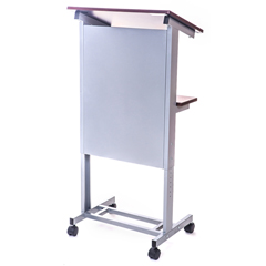 LUXLX-ADJ-DW - LuxorAdjustable Height Lectern Podium Mobile Presentation Station