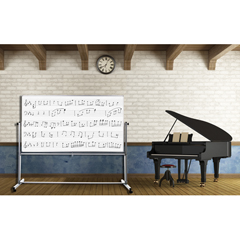 LUXMB7248MM - LuxorMobile Double Sided Music Whiteboard