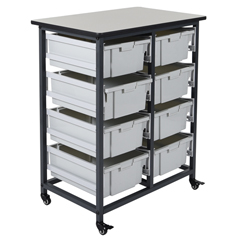 LUXMBS-DR-8L - LuxorMobile Bin System - Double Row