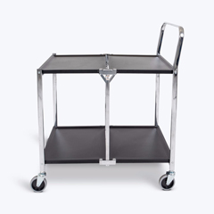 LUXMSCC-2 - Luxor2 Shelf Collapsible Metal Cart