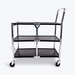 LUXMSCC-3 - Luxor3 Shelf Collapsible Metal Cart