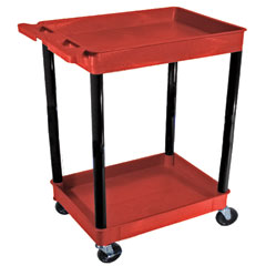 LUXRDSTC11BK - Luxor2-Shelf Tub Cart