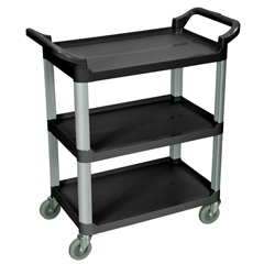LUXSC12-B - Luxor3-Shelf Utility Cart - 200 lb Capacity