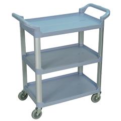 LUXSC12-G - Luxor3-Shelf Utility Cart - 200 lb Capacity