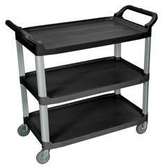 LUXSC13-B - Luxor3-Shelf Utility Cart - 300 lb Capacity