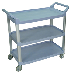 LUXSC13-G - Luxor3-Shelf Utility Cart - 300 lb Capacity