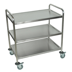 LUXST-3 - LuxorST Series 3-Shelf Utility Cart