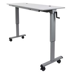 LUXSTAND-NESTC-60 - LuxorAdjustable Flip Top Table, Crank Handle